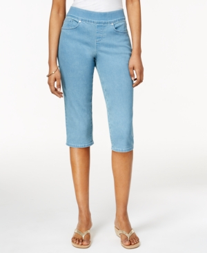 Style  Co. Petite Pull-On Capri Jeans Only at Macys $49.00 AT vintagedancer.com