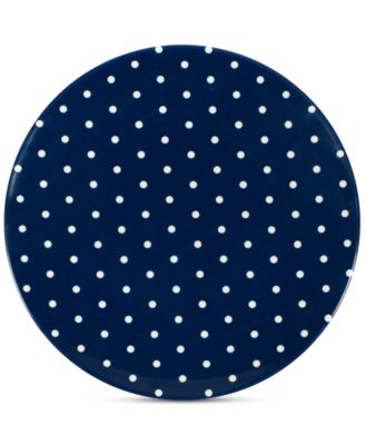 kate spade new york Raise a Glass Collection Blue Polka Dot Salad/Accent Plate, A Macy's Exclusive