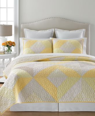 Martha Stewart Collection Patchwork Eyelet Collector's Queen Quilt, Only at Macy's