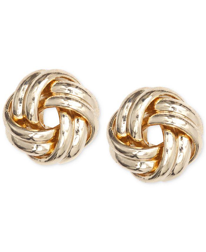 Anne Klein - Gold-Tone Knot Stud Earrings