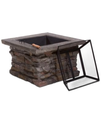Ashten 3-Pc. Square Firepit Set, Direct Ship
