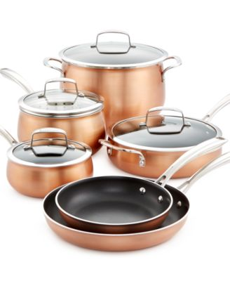 Belgique Copper Translucent 11-Piece Cookware Set, Only at Macy's