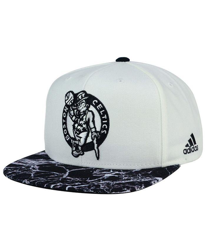adidas - Boston Celtics White Marble Snapback Cap