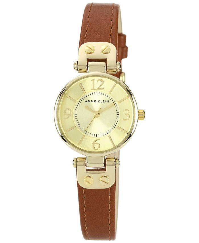 Anne Klein - Watch, Women's Brown Leather Strap 10-9442CHHY