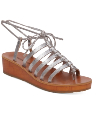 Lucky Brand Hulumi Wedge Lace-Up Gladiator Sandals Women's Shoes
