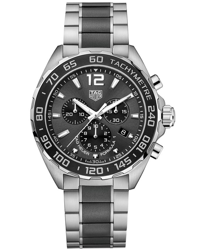 TAG Heuer - Men's Swiss Chronograph Formula 1 Two-Tone Stainless Steel and Ceramic Bracelet Watch 43mm CAZ1011.BA0843