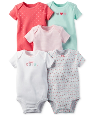 c12e8e3c5d81d Carter s Baby Girls  5-Pack Short-Sleeve Bodysuits