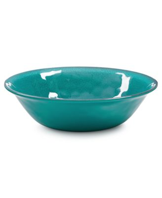 Home Design Studio Aqua Melamine Dinnerware Collection Cereal Bowl. Only at Macy's