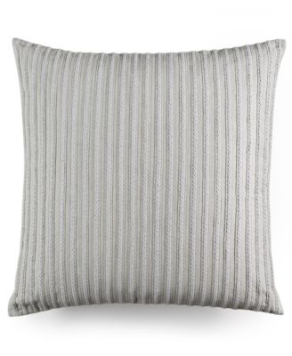 "Hotel Collection Modern Geo Stripe Braided 20"" Square Decorative Pillow, Only at Macy's"