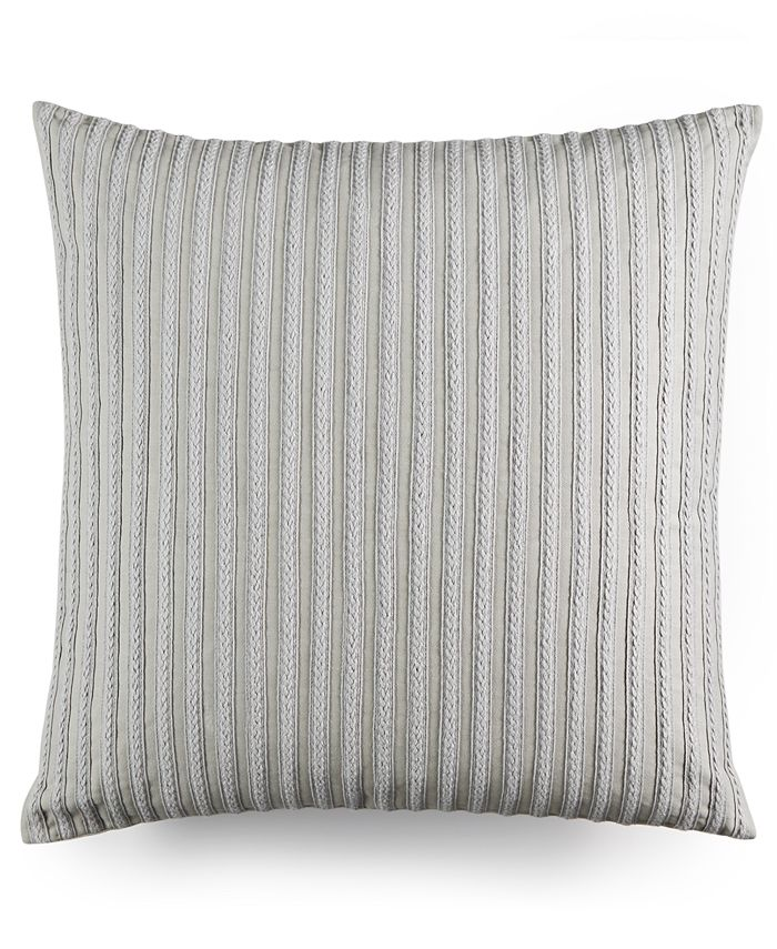 """Hotel Collection - Modern Braided Stripe 20"""" Square Decorative Pillow"""