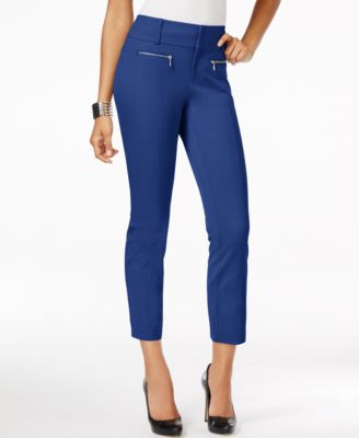 Image of INC International Concepts Zip-Pocket Cropped Pants, Only at Macy's