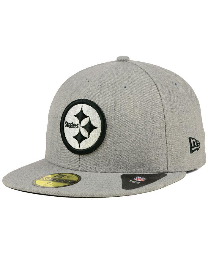 New Era - Pittsburgh Steelers Heather Black White 59FIFTY Cap
