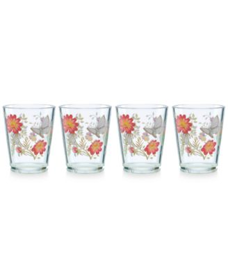 Lenox Butterfly Meadow Collection 4-Pc. Double Old-Fashioned Drinkware Set