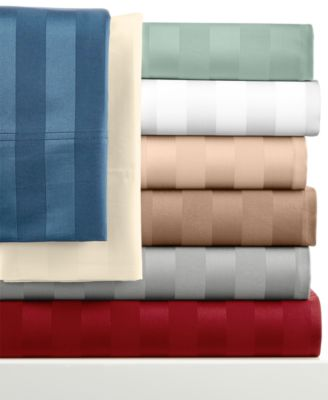 Westport 1000 Thread Count Egyptian Cotton Sateen Stripe California King Sheet Set, Only at Macy's