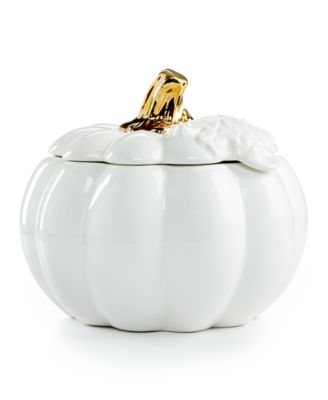 Martha Stewart Collection 2-Pc. Harvest Pumpkin Covered Soup Bowl, Only at Macy's