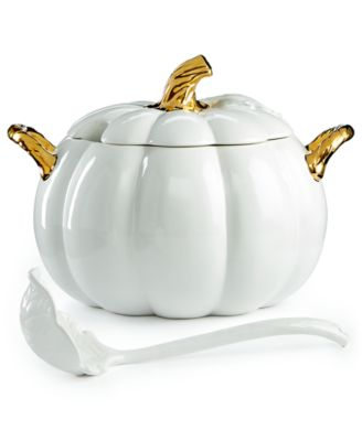 Martha Stewart Collection 2-Pc. Lidded Harvest Pumpkin Soup Tureen, Only at Macy's