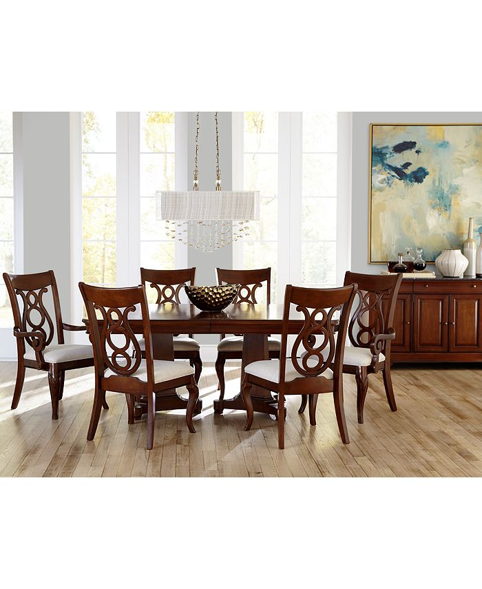 Furniture Closeout Bordeaux Double Pedestal Dining Room Furniture Collection Created For Macy S Reviews Furniture Macy S
