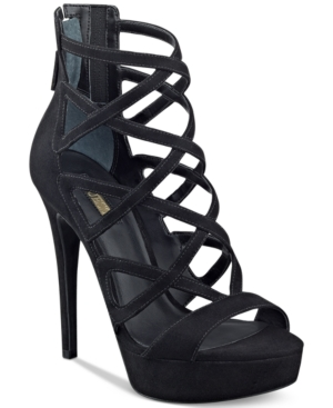 Guess Women's Kadani Caged Platform High-Heel Sandals Women's Shoes