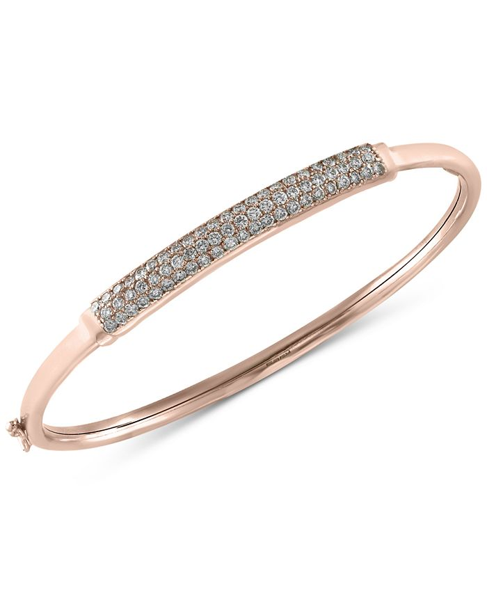 EFFY Collection - Diamond Bangle Bracelet (1 ct. t.w.) in 14k White, Yellow or Rose Gold