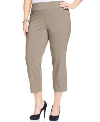 Image of Alfani Plus Size Pull-On Capri Pants, Only at Macy's