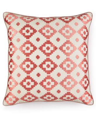 Martha Stewart Collection Red Rock Diamond Decorative Pillow, Only at Macy's