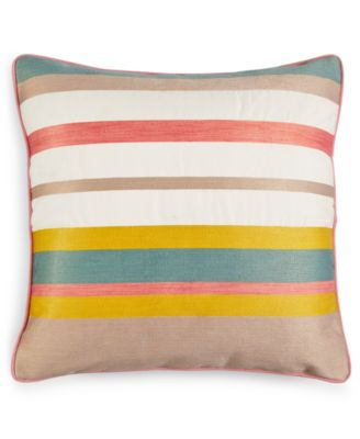 Martha Stewart Collection Butternut Stripe Decorative Pillow, Only at Macy's