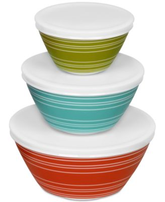 Vintage Charm inspired by Pyrex Memory Lane 6-Pc. Mixing Bowl Set