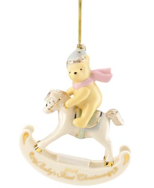 Lenox Annual 2016 Winnie the Pooh Baby's 1st Christmas Ornament