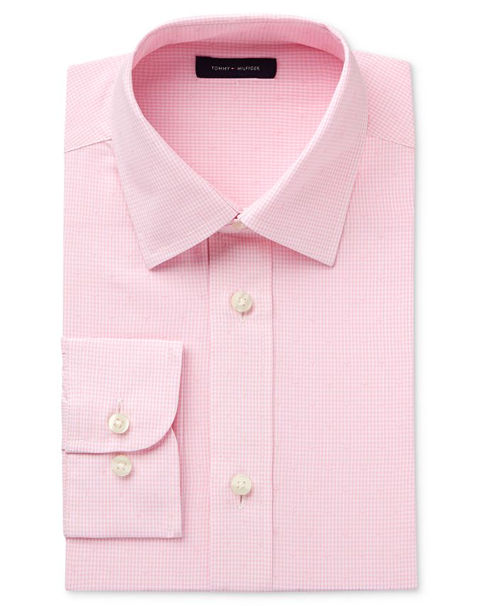 Tommy Hilfiger - Boys' Pink Long-Sleeve Button-Up Shirt