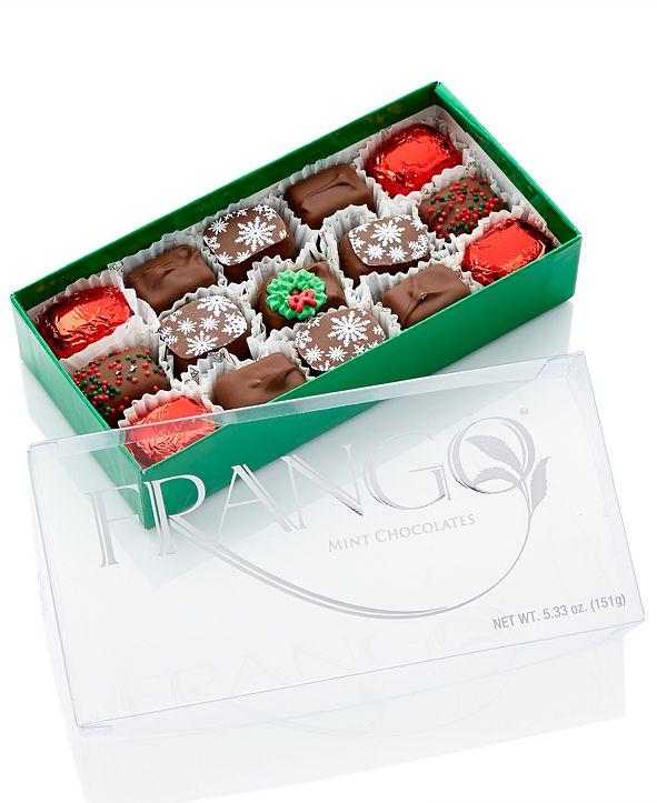 Frango Chocolates Holiday Deco Milk Mint 15 Piece Box of Chocolates