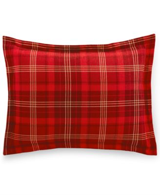 Martha Stewart Collection Appleton Plaid Flannel Standard Sham, Only at Macy's