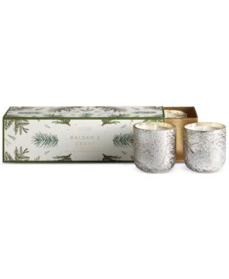 Illume Luxe Mini Sanded Mercury-Glass Candle Set