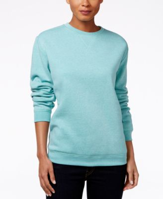 Image of Karen Scott Fleece Sweatshirt, Only at Macy's