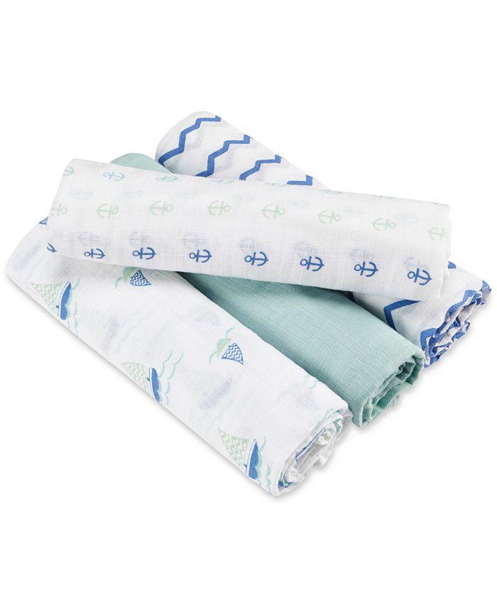 aden by aden + anais - Baby Boys' 4-Pk. Sailing Sea Swaddle Blankets