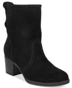 White Mountain Behari Block-Heel Slouchy Booties Women's Shoes