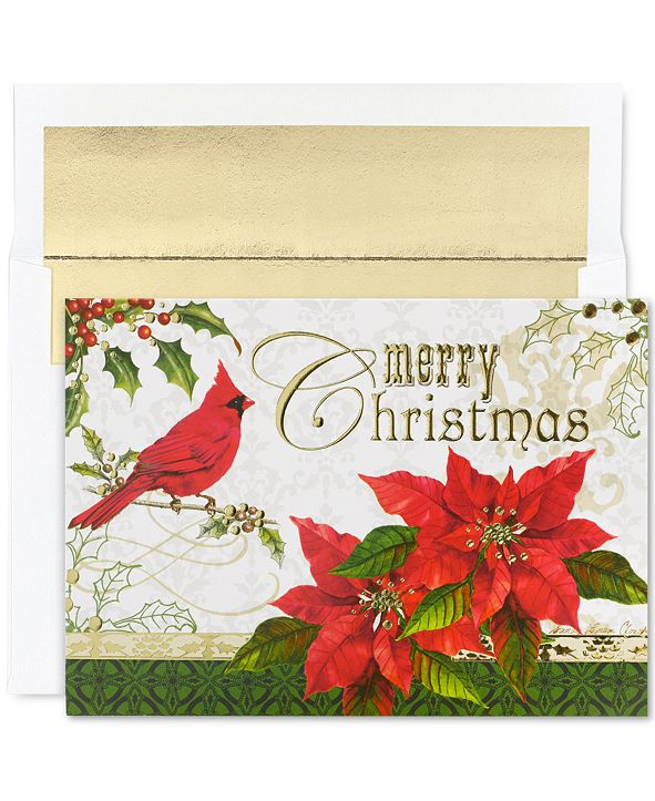 Masterpiece Studios Merry Christmas Cardinal Holiday Boxed Cards
