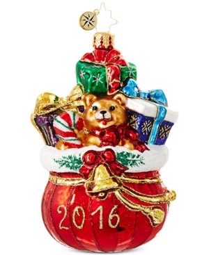 Christopher Radko Macy's Exclusive 2016 Gift Bag Ornament