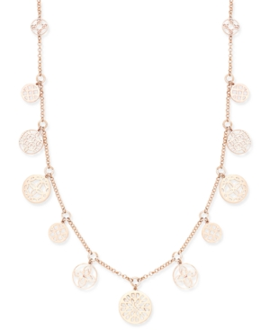 Charter Club Rose Gold-Tone Cutout Charm Necklace, Only at Macy's