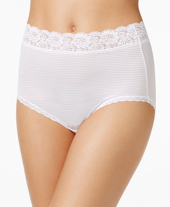 Vanity Fair Flattering Lace Stretch Brief Underwear 13281, also available in extended sizes