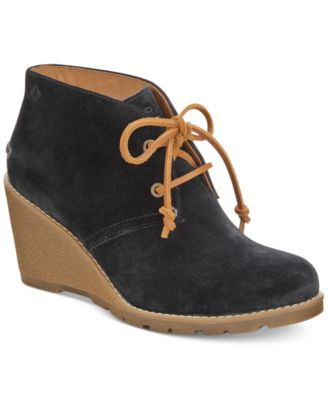 Celeste Prow Wedge Ankle Booties