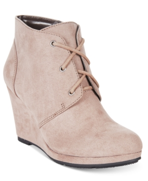 Style & Co. Alaisi Lace-Up Wedge Booties, Only at Macy's Women's Shoes