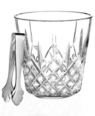 Waterford Barware, Lismore Ice Bucket With Tongs