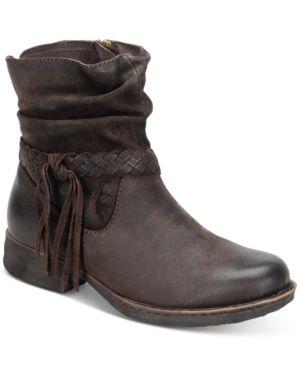 Born Abernath Tasseled Booties Women's Shoes