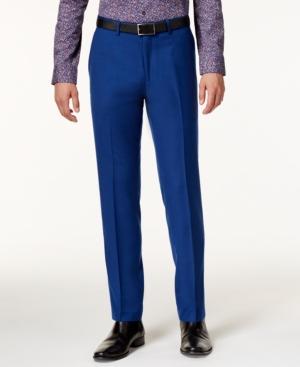 1960s Style Men's Clothing Bar Iii Mens Slim-Fit Cobalt Pants Only at Macys $42.99 AT vintagedancer.com