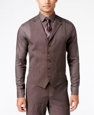 VictorianMen8217sClothing Sean John Mens Classic-Fit Brown Pindot Vest $44.99 AT vintagedancer.com