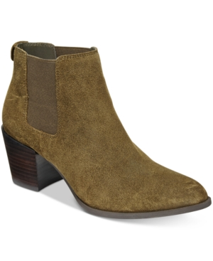 Anne Klein Geordanna Block-Heel Booties