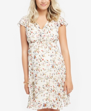 Motherhood Maternity Floral-Print Ruffled Dress plus size,  plus size fashion plus size appare