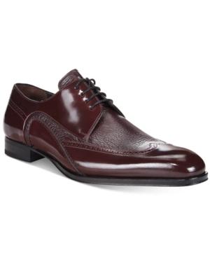 Mezlan Men's Freeport Mixed-Media Wing-Tip Oxfords Men's Shoes