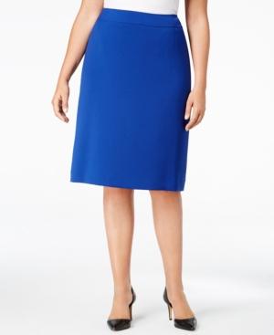 Tahari Asl Plus Size Pencil Skirt $79.00 AT vintagedancer.com