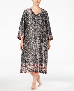 Oscar de la Renta Plus Size Border-Print Caftan plus size,  plus size fashion plus size appare